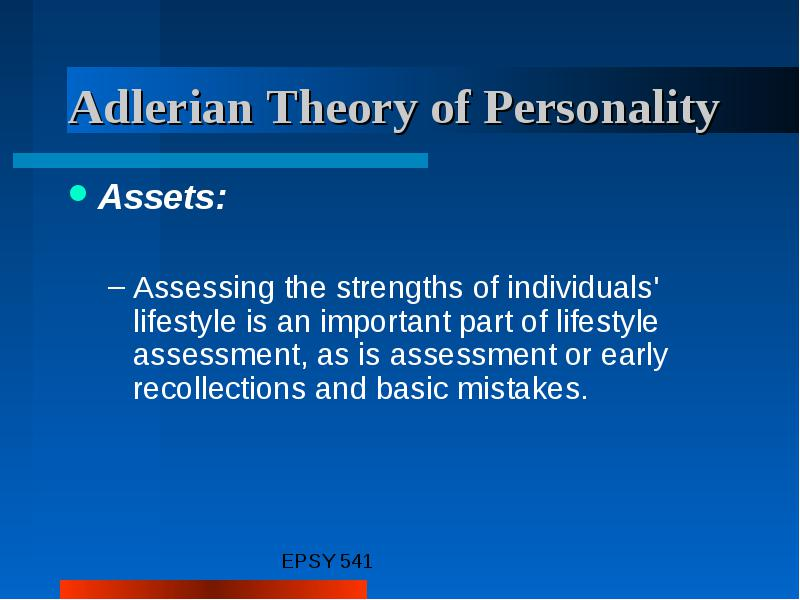 adlerian lifestyle assessment