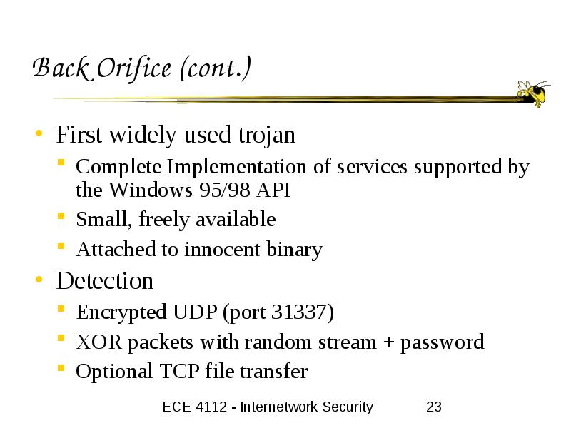 Backdoors and Trojans