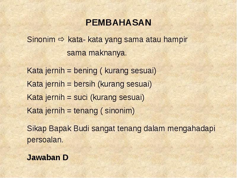 Bahasa Indonesia Sinonim Dan Antonim