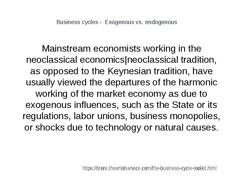 exogenous reasons for business cycle