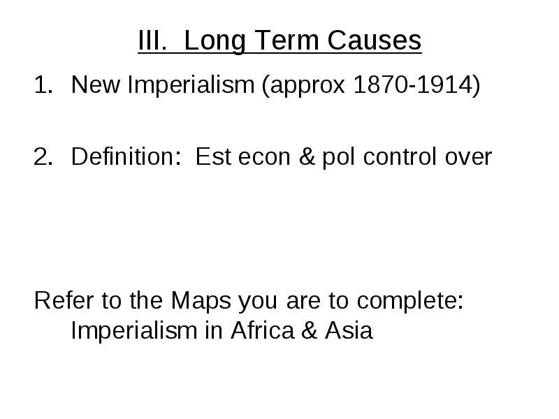 imperialism definition ww1