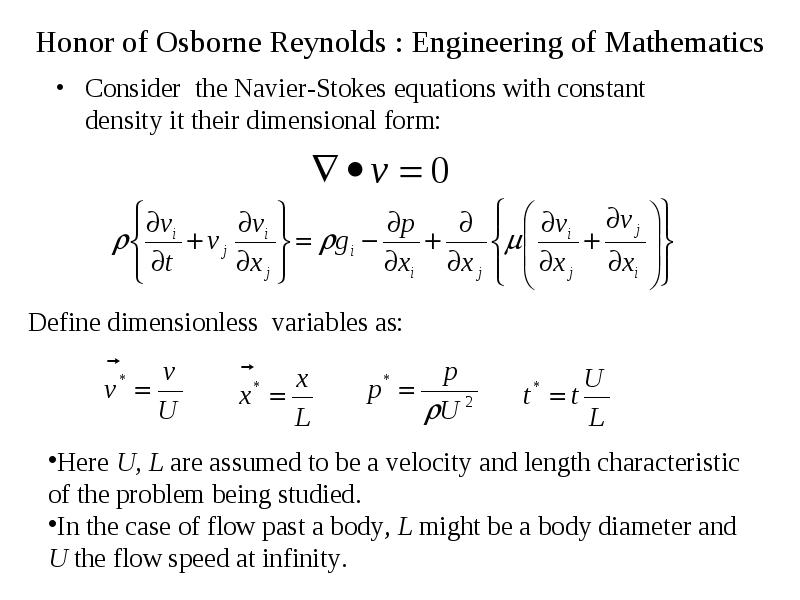 Consider the Navier-Stokes equations with constant density