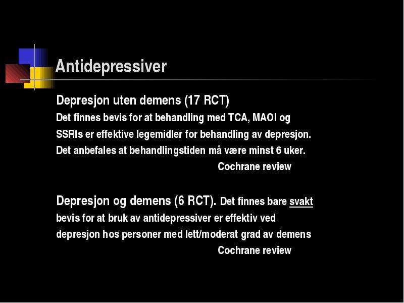 lett depresjon symptomer