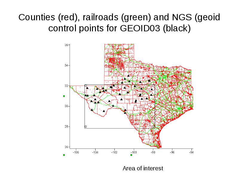 Difference between gps ellipsoid and sea level heights (N