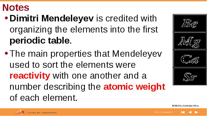 Dimitri mendeleyev is credited with organizing the elements into the purpose the goal of this lesson is to acquaint you with mendeleyevs organization of the elements by allowing you to create your own table from the urtaz Gallery