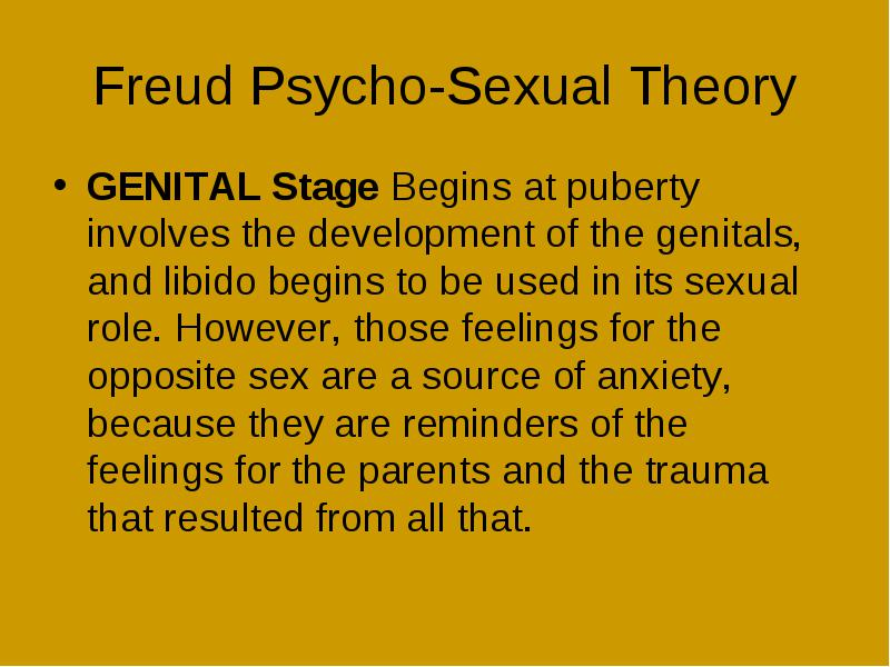 the genital stage of psychosexual development