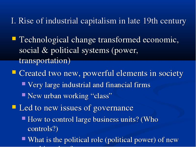 rise of industrial capitalism