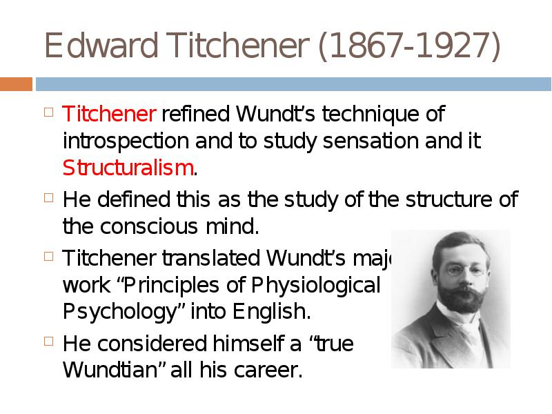 wundt and titchener