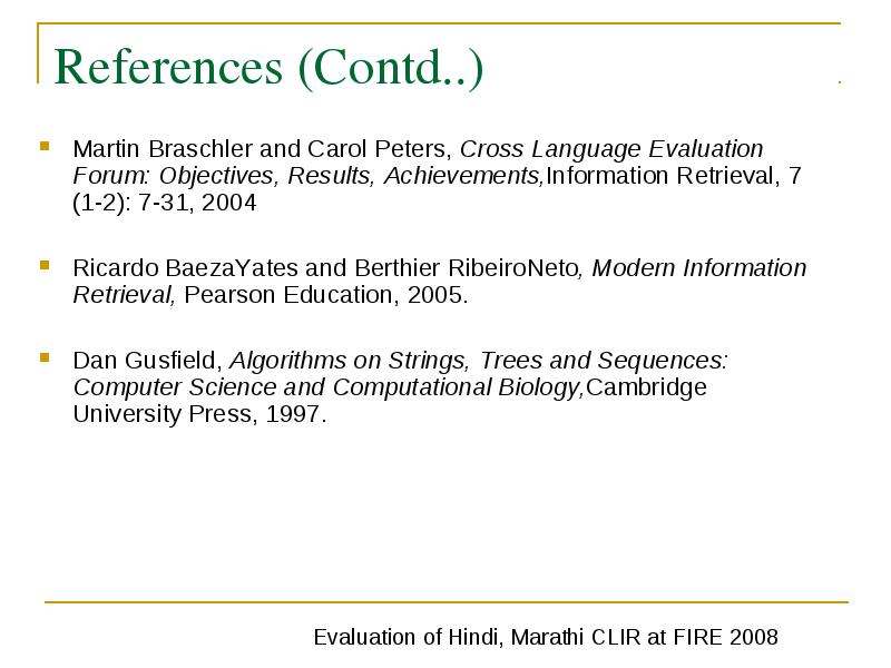 Evaluation of hindienglish marathienglish and englishhindi dan gusfield algorithms on strings trees and sequences computer science and computational biologycambridge university press 1997 fandeluxe Gallery