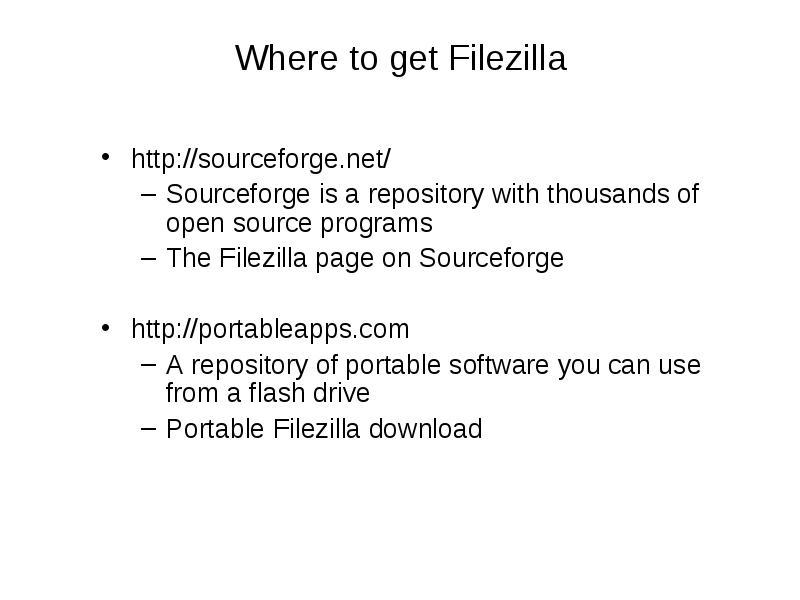 Filezilla in context