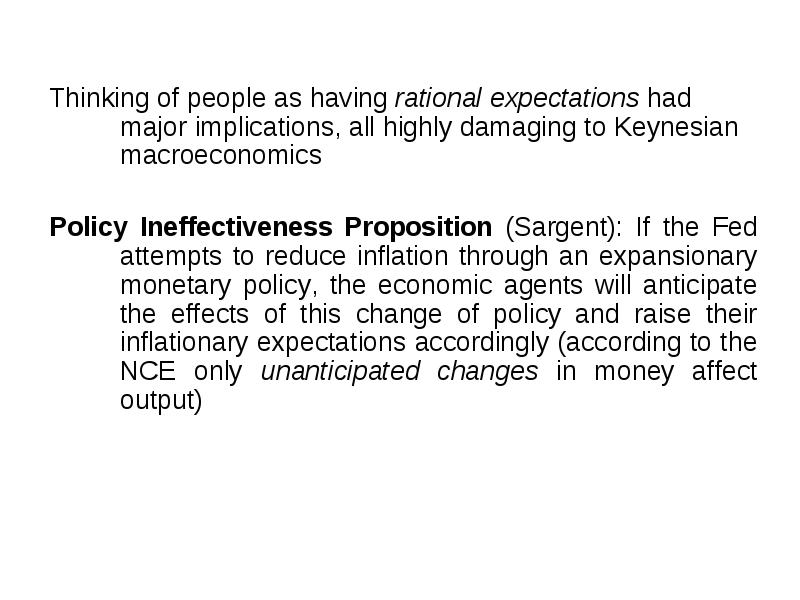 policy ineffectiveness proposition graph