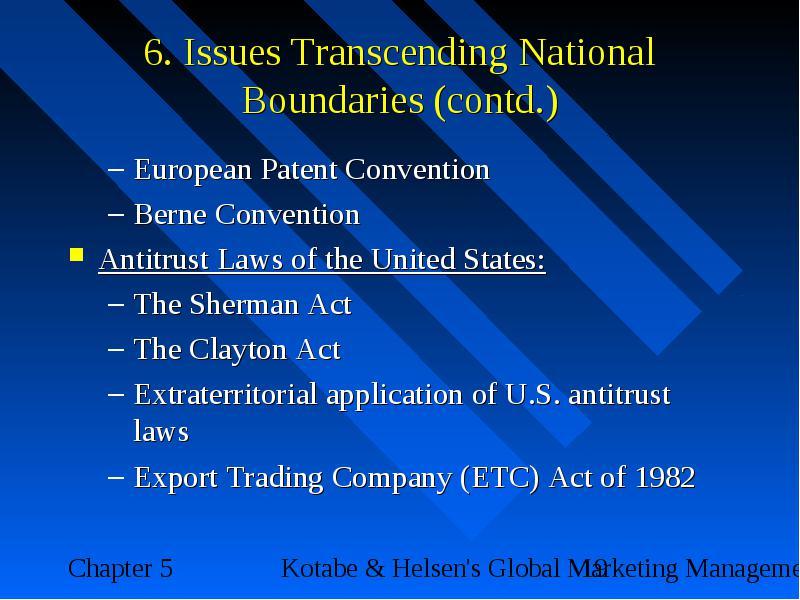 export trading company act