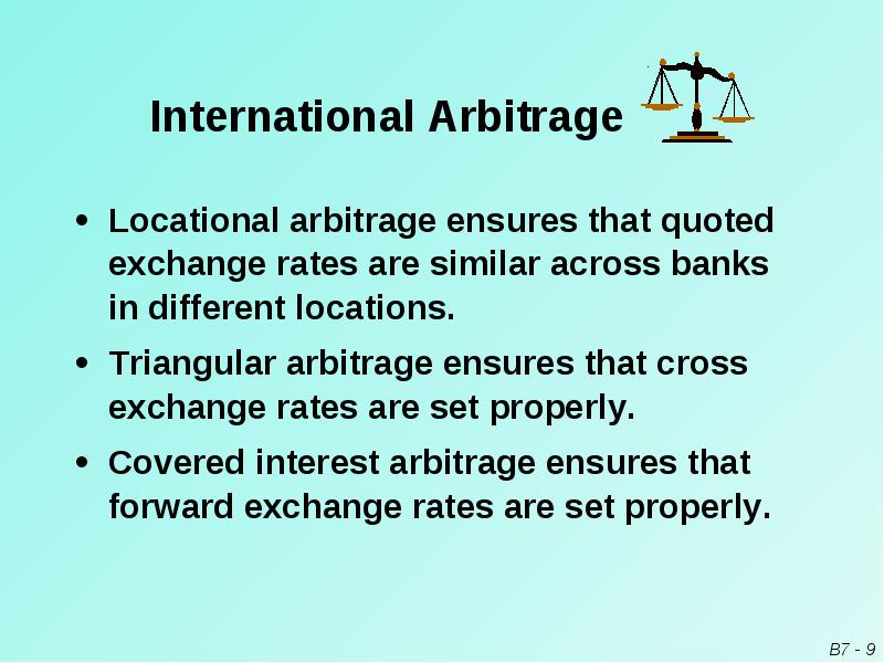 locational arbitrage example