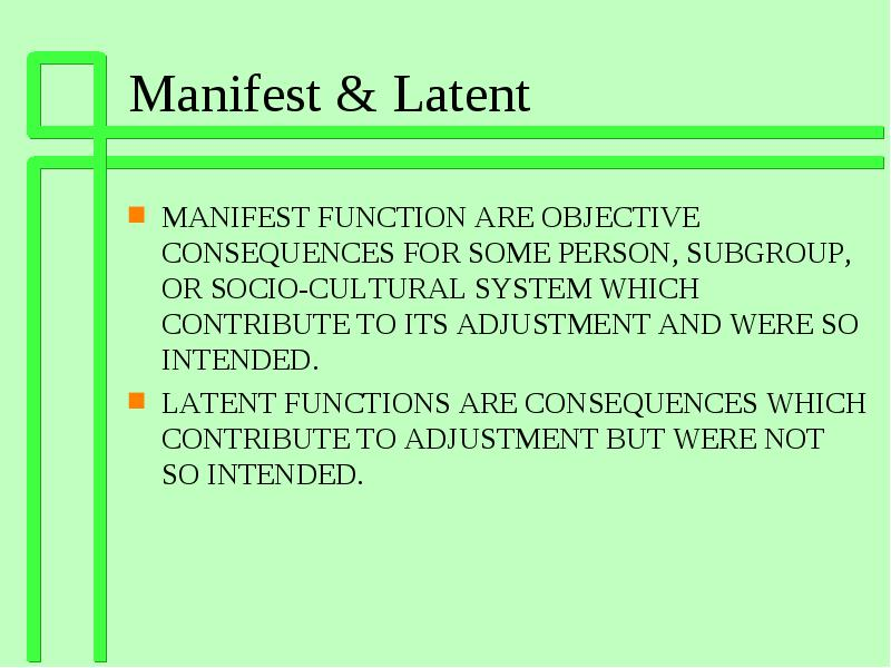 what is latent function in sociology