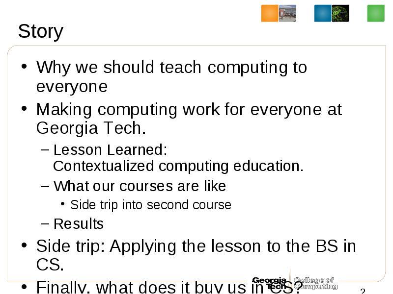 Meeting Computing Needs Across Campus Mark Guzdial, School