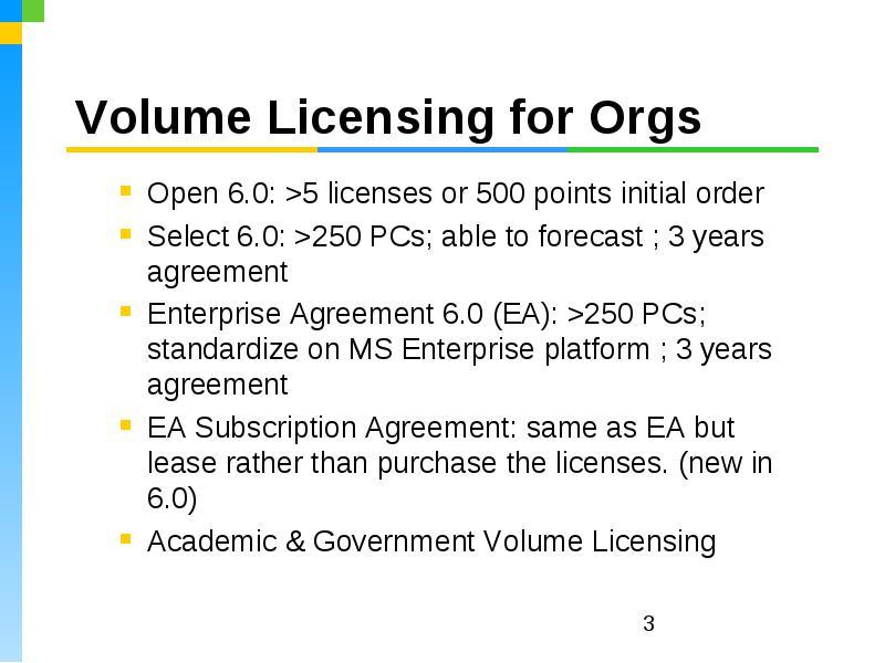Microsoft Open Licensing Software Assurance 0 Training Microsoft