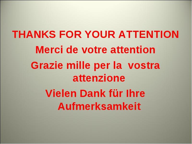 dank für aufmerksamkeit
