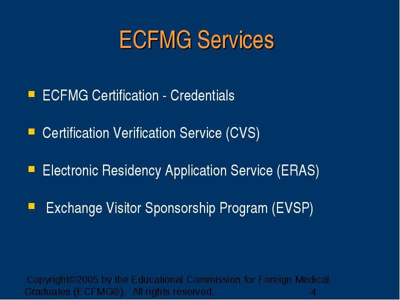 New Logo For Ecfmg