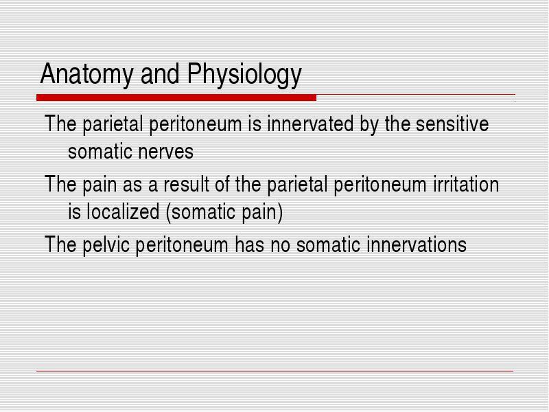 Peritonitis Anatomy and Physiology