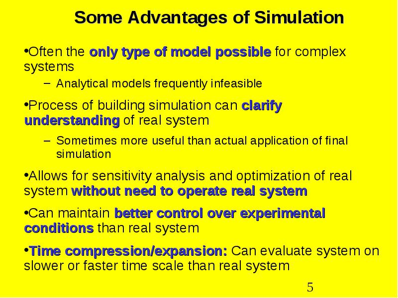 Simulation and monte carlo some General Principles