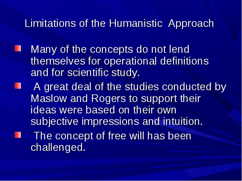 humanistic psychology studies