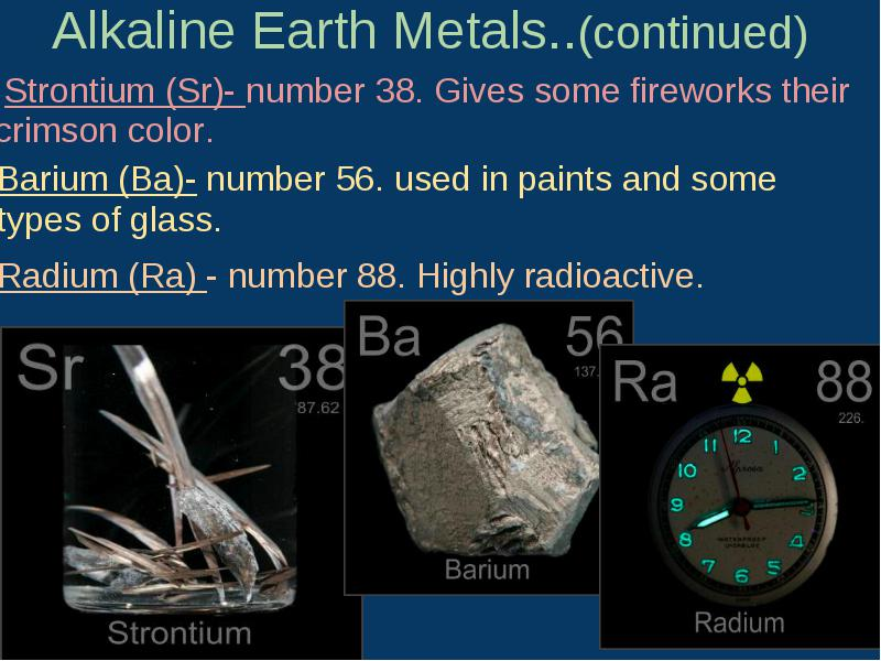 alkaline earth metals Alkaline-earth metal definition, any of the group of bivalent metals including barium, radium, strontium, calcium, and, usually, magnesium, the hydroxides of which are alkalis but less soluble than those of the alkali metals.