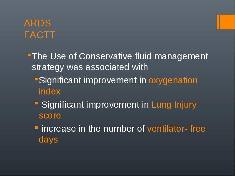 the use of conservative fluid management strategy was associated with