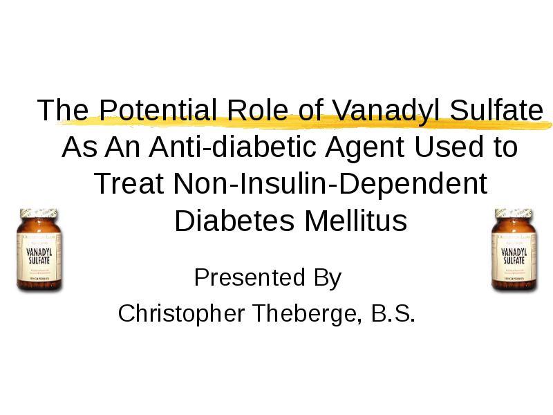 vanadyl sulfate para diabetes