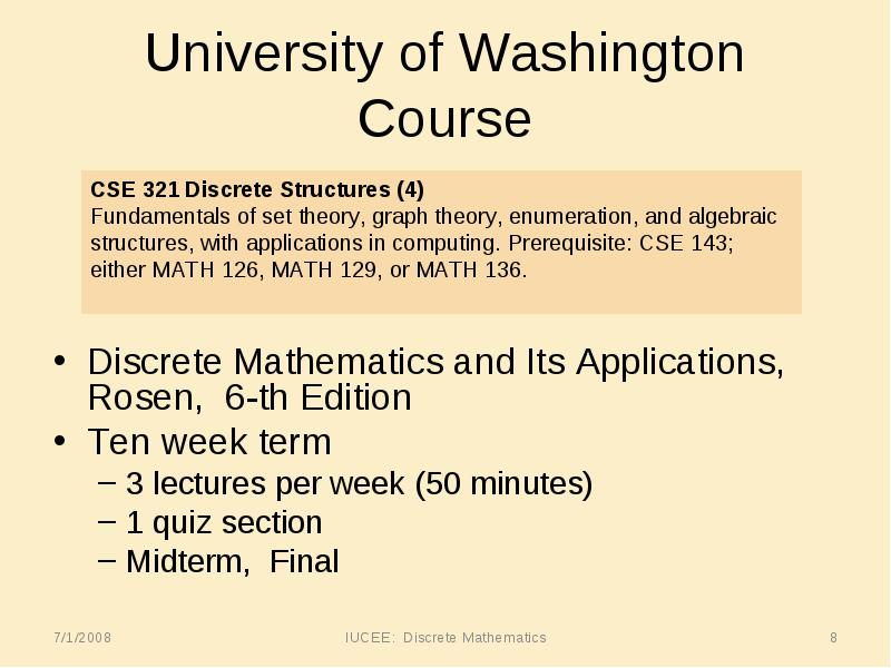 Discrete mathematics exam questions